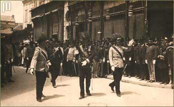 Franjo Ferdinand u šetnji Sarajevom