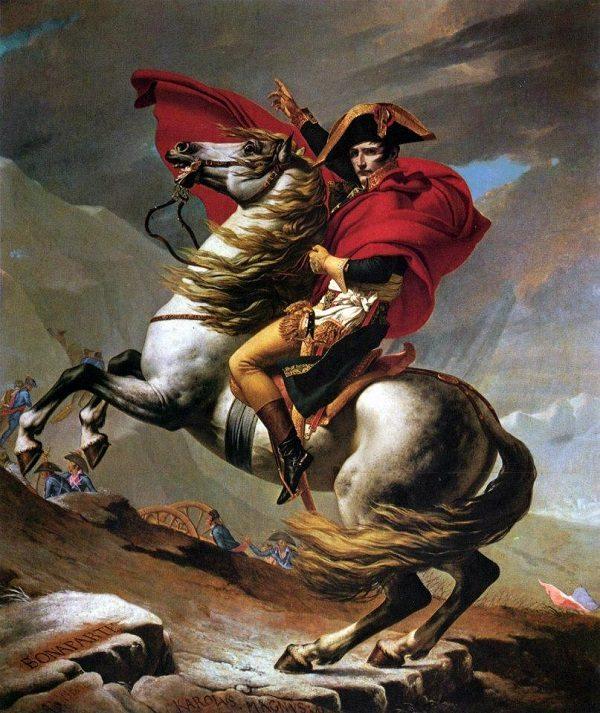 Napoleonov prijelaz preko St. Bernarda, djelo Jacques Louis Davida