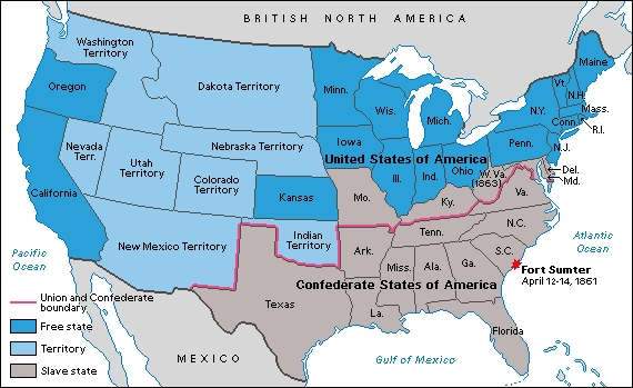 Karta CSA i USA