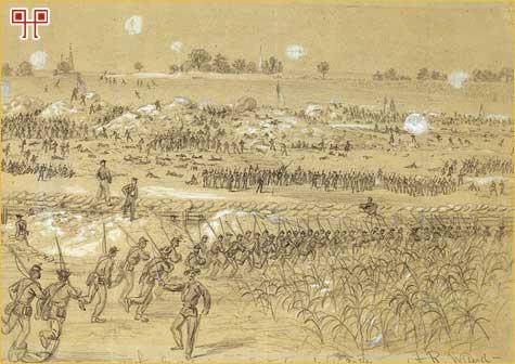 Prikaz bitke objavljen u Harper's Weekly 22. kolovoza 1864. godine