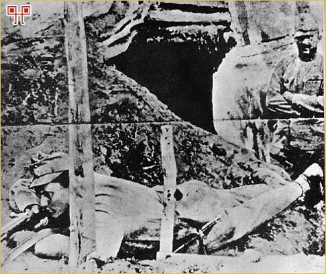 U rovu tijekom prvog rata