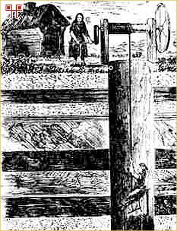 Uz kopanje ruda tipično žensko zaduženje je bio rad na motovilu