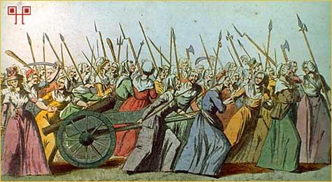 Parižanke se kreću prema Versaillesu (listopad 1789.)