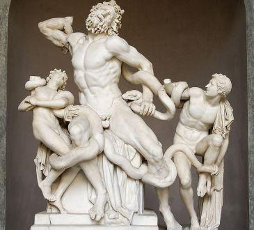 Laokoon i sinovi, skulptura poznata i pod nazivom Laokoonova grupa. Mramorna kopija helenističkog originala iz 2.st.pr.n.e.
