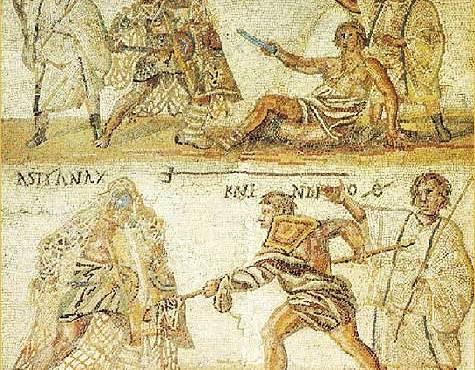 Reljef s prikazom gladijatora pronađen u Pompejima