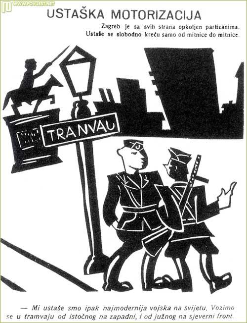 Partizanski plakat koji dobro ilustrira snagu ustaša