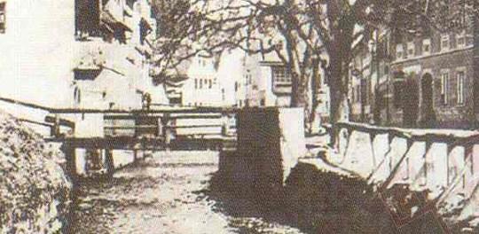 Pisani most, prijelaz preko potoka Medveščak