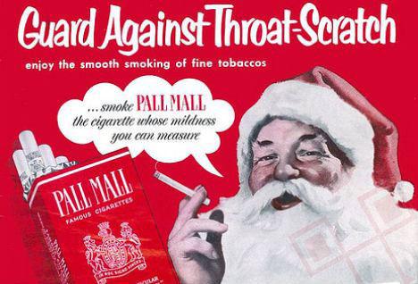 Djed Božićnjak preporučuje cigaretu za ublažavanje nadraženosti grla
