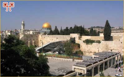 Zid plača i Omarova džamija na mjestu Prvog hrama