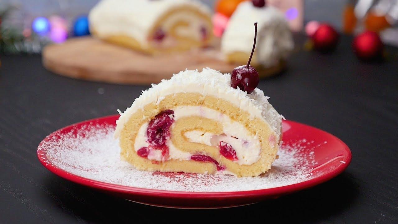 Рулет «Ягоды на снегу» (2889) | Povkusu.com