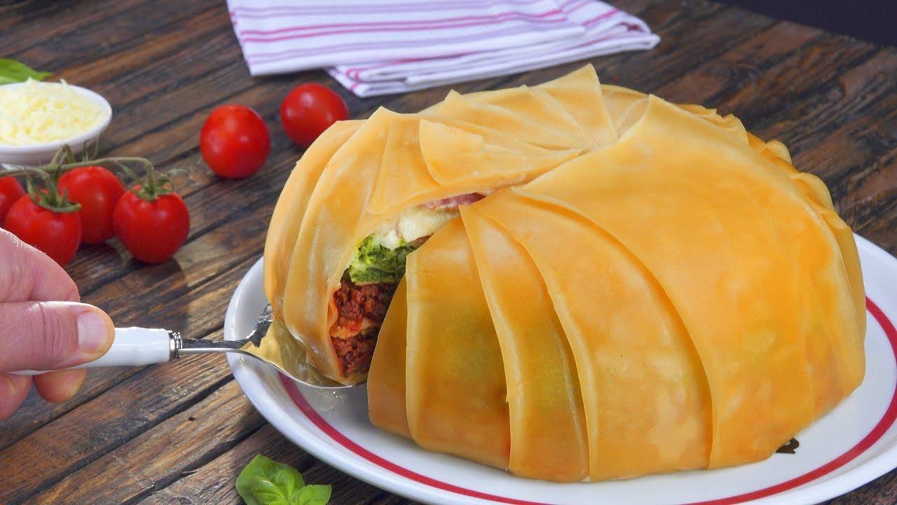 Мясной торт-лазанья (3999) | Povkusu.com