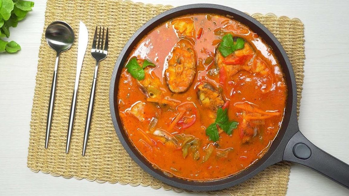 Рыба с овощами в томатном соусе (5305) | Povkusu.com