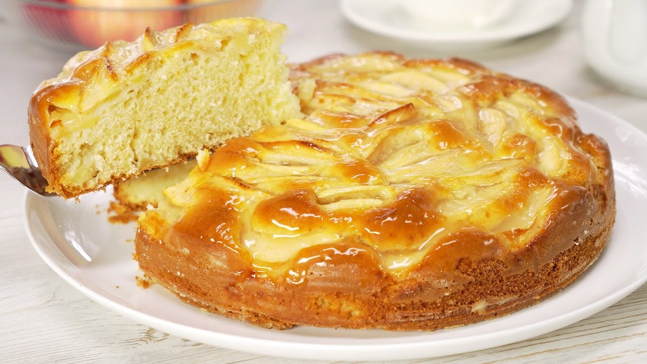 Бисквитная шарлотка с яблоками (5743) | Povkusu.com