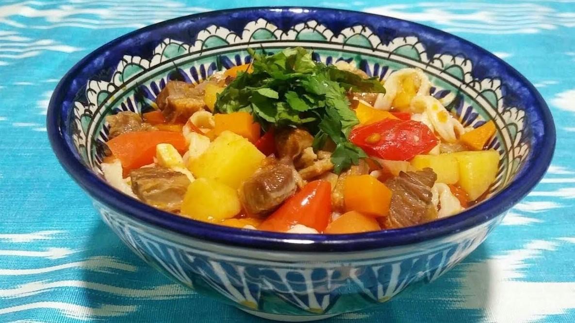 Лагман с нарезной лапшой — потрясающий рецепт восточной кухни! (5907)   Povkusu.com