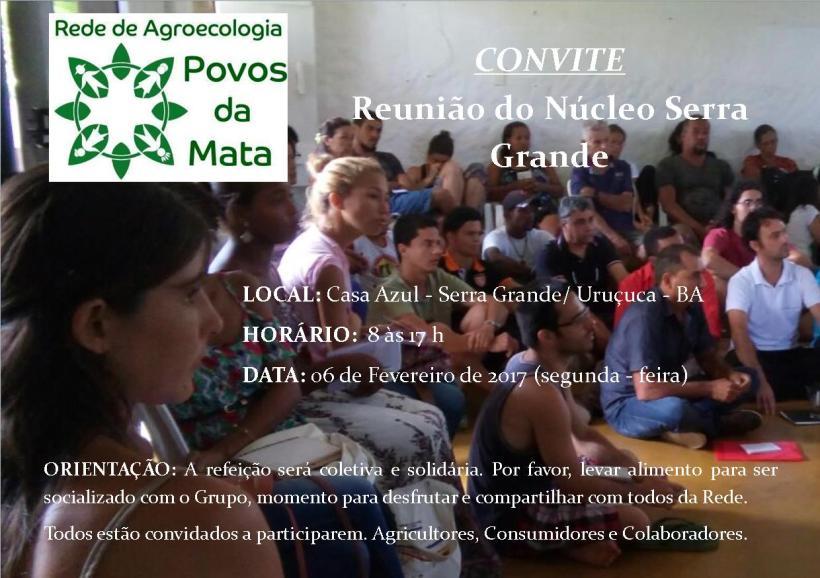 1a Reunião do Núcleo Serra Grande de 2017 acontece no dia 6 de Fevereiro