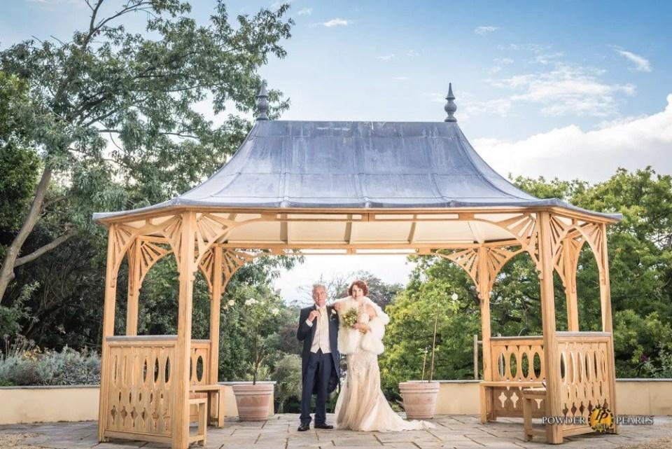 Clevedon Hall wedding couple