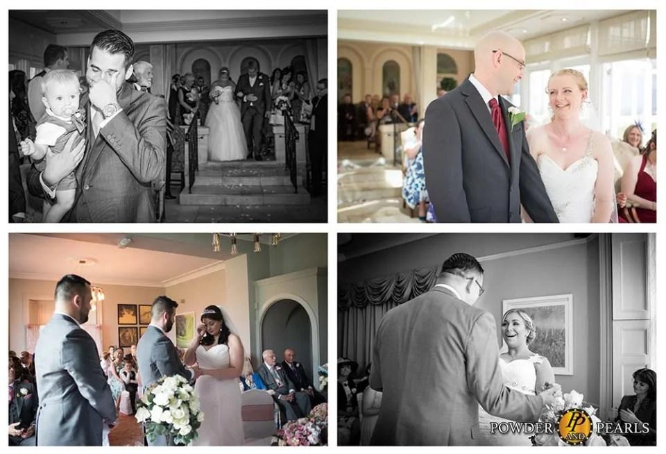 Emotional wedding ceremony moments