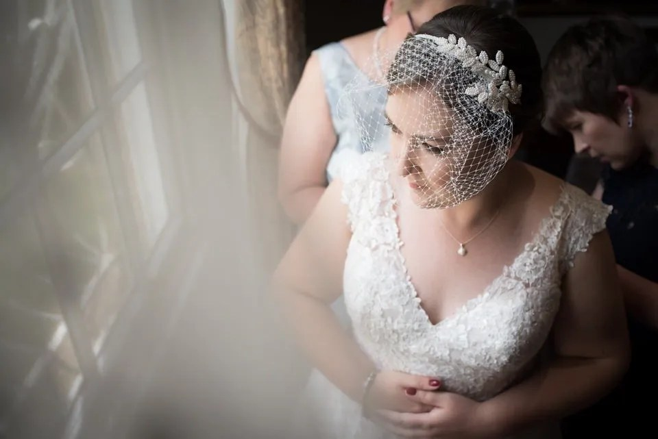 Bride on her wedding day at Bailbrook House in Bath
