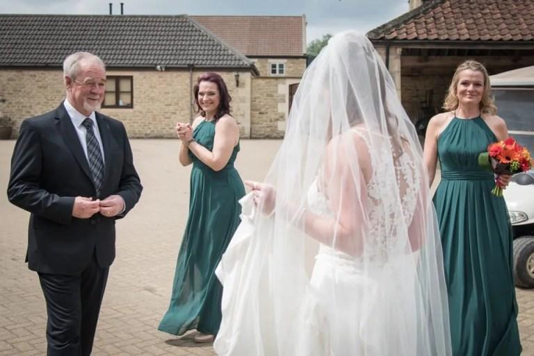 Bride arriving at Cumberwell Park