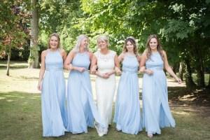 Bridesmaids at Cumberwell Park wedding venue