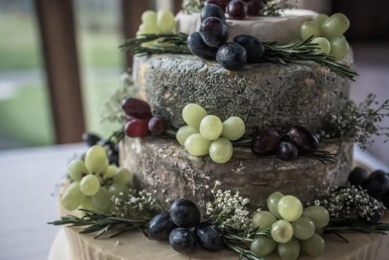 Cumberwell Park wedding venue wedding cheese cake