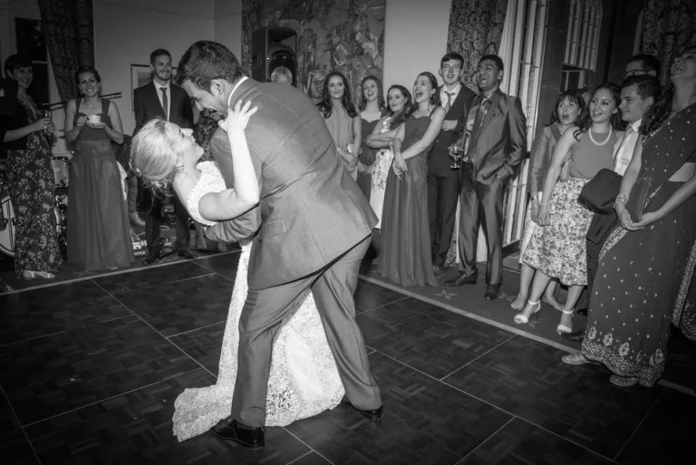 wedding first dance at Dillington House in Somerset