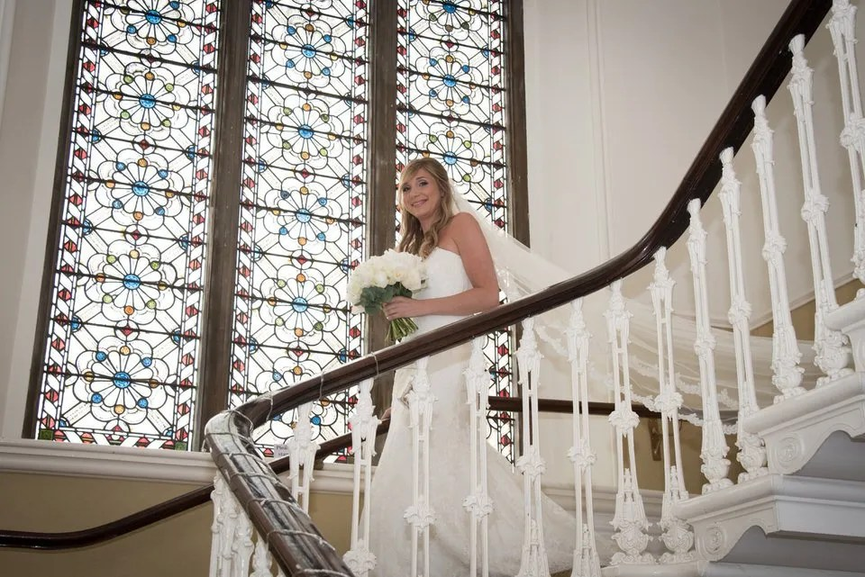 Eastwood Park wedding stained glass window