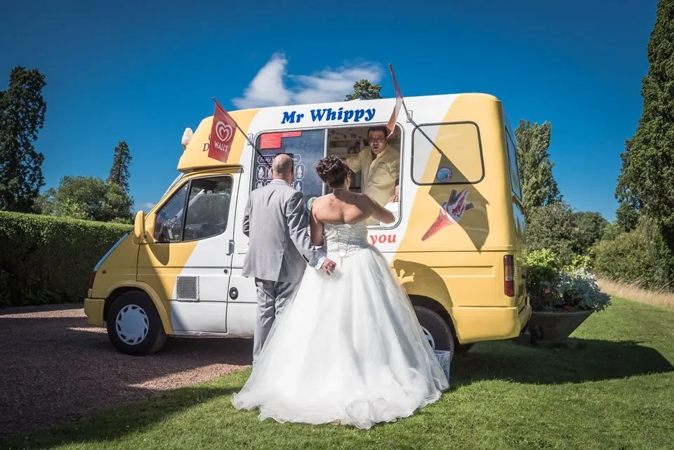 Eastwood Park Wedding ice cream avan