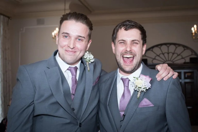 Eastwood Park groom and best man