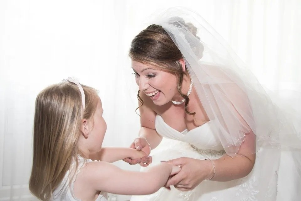 Bride and daughter at the Grange Mecure Hotel in Bristol