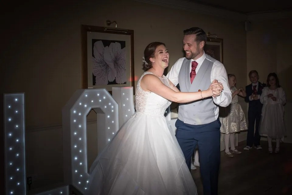 Wedding first dance at Leigh Park hotel in Wiltshire