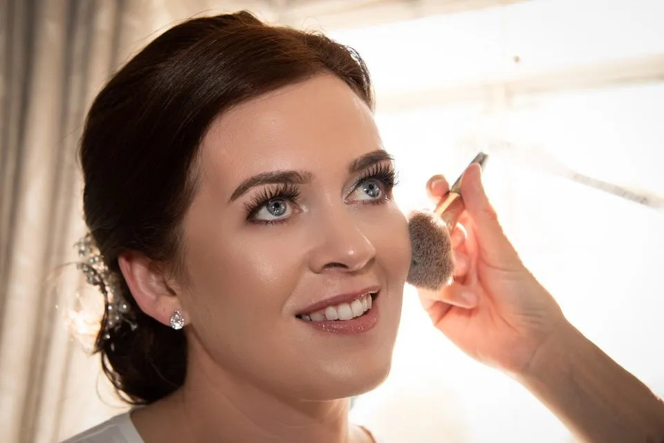 Wedding make up at Leigh Park hotel in Wiltshire