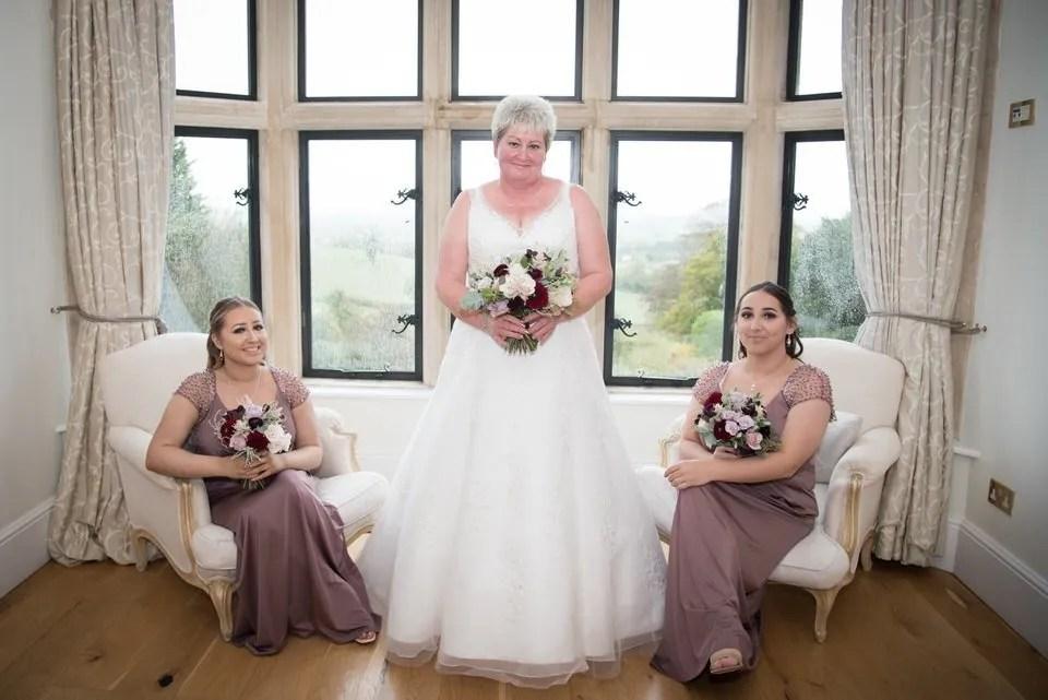 Bride at Old Down Manor Wedding in Bristol