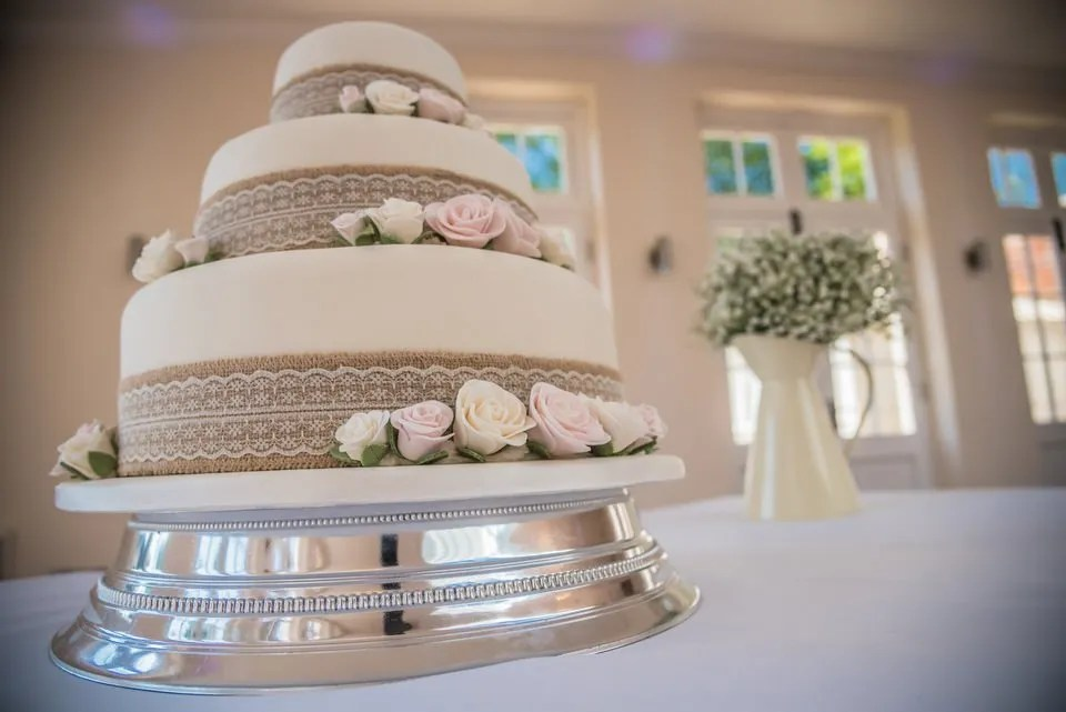 Wedding cake at Orchardleigh Estate in Somerset