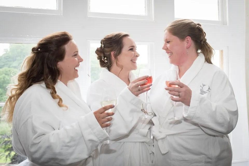 Wedding prep at Pashcoe House in Devon