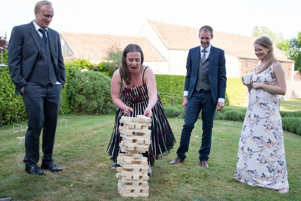 Wedding games at Priston Mill in Somerset
