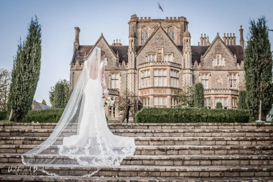 Perfect spot at Tortworth court for wedding photography