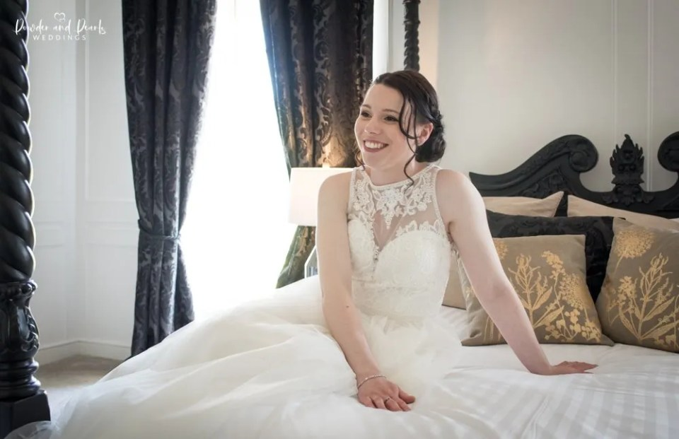 Crowcombe court bride in the bridal suite