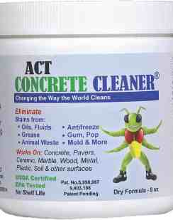 ACT Concrete Cleaner 8oz Eco-friendly Covers 50sqft