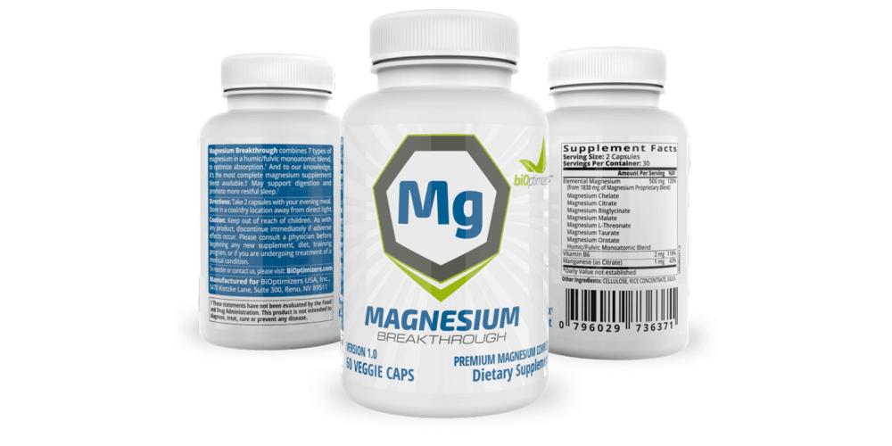 BiOptimizers Magnesium Breakthrough dosage