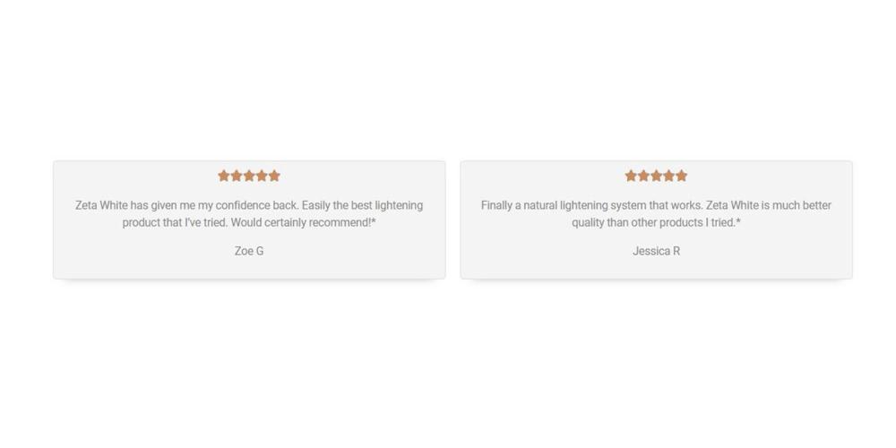 Zeta White customer reviews