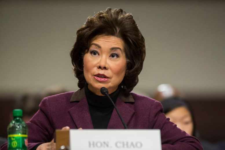 DOJ Asked By DOT Watchdog To Consider Criminal Probe Into Secretary Elaine Chao Over Ethics Concerns