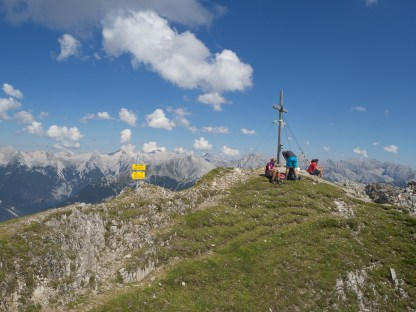 Summit with a view of the Karwendel randge