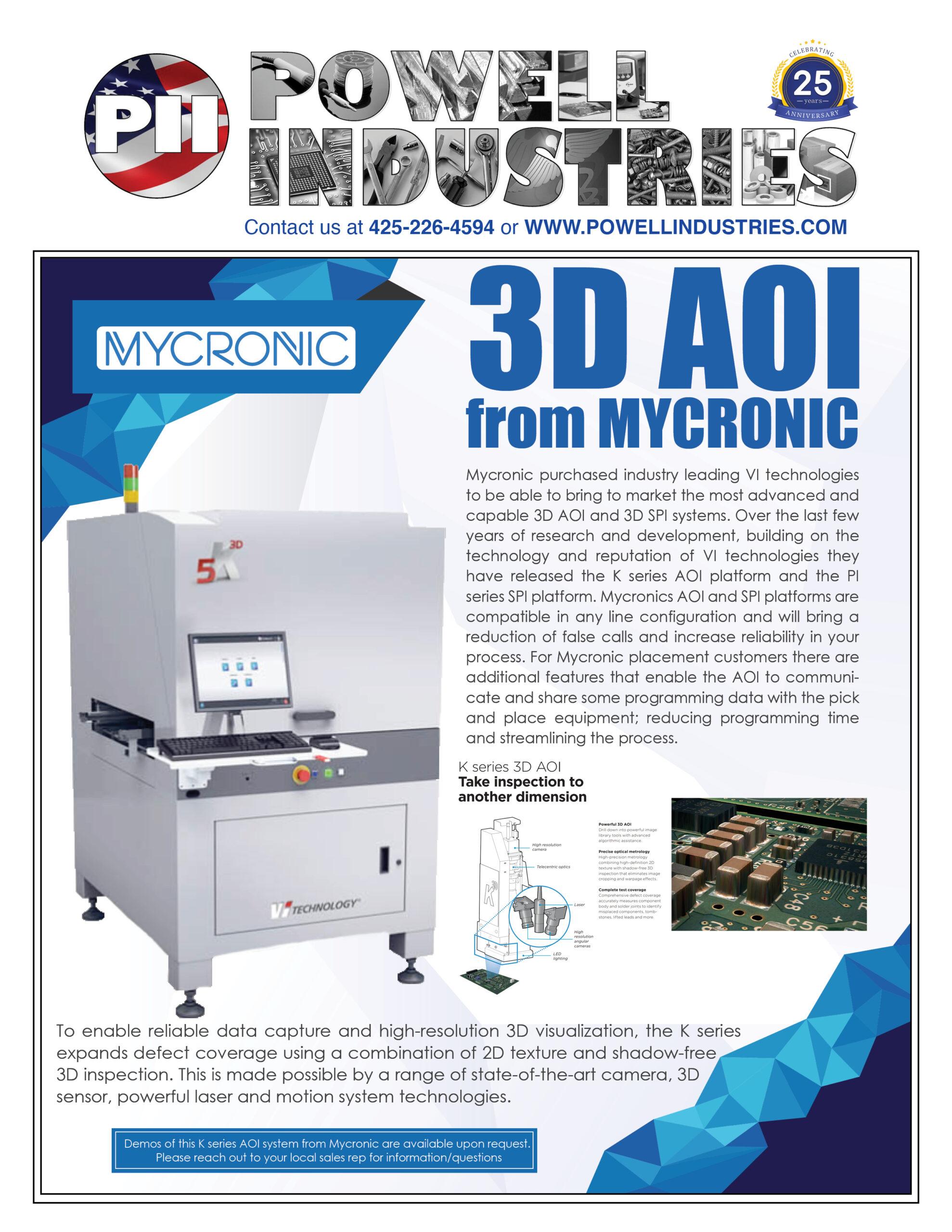 3D AOI Mycronic Flyer