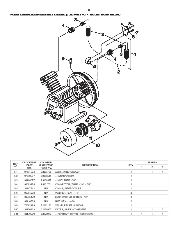 Ingersoll Rand T30 2340 Two Stage Air Compressor Parts List Manual 8?resize\=612%2C792\&ssl\=1 ingersoll rand 2475n7 5 wiring schematics wiring diagrams  at bayanpartner.co