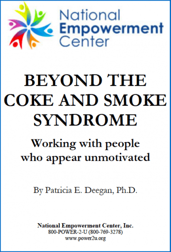 Beyond the Coke and Smoke Syndrome: Working with People who Appear Unmotivated