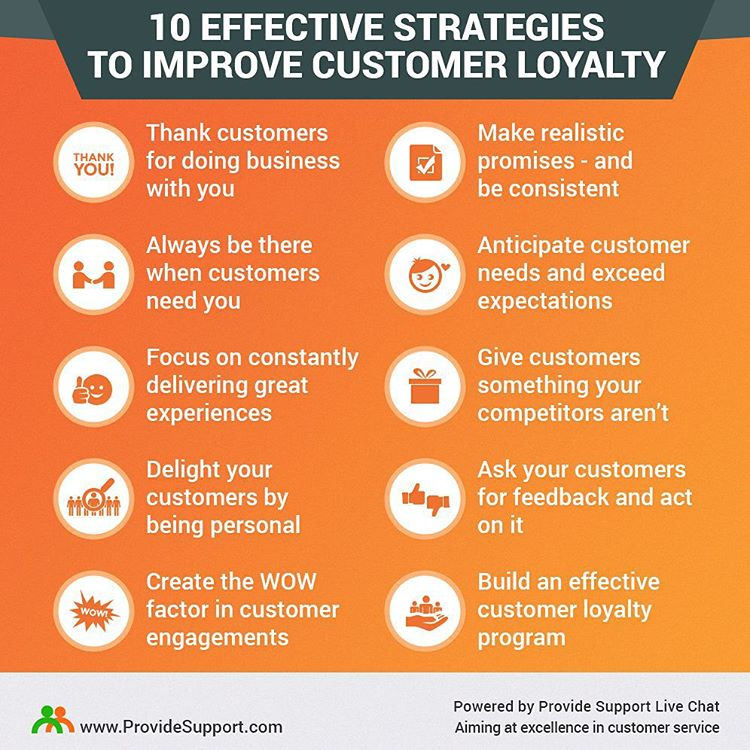 10 ways to keep customers loyal