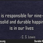 Affection is responsible for nine-tenths of whatever Quote by CS Lewis