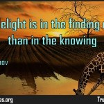 The true delight is in the finding out rather than in the knowing