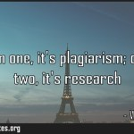Copy from one its plagiarism copy from two its research